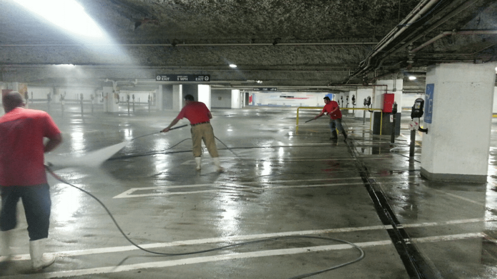 Parking Garage Cleaning