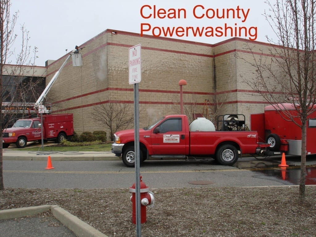 concrete commercial building power washing new york