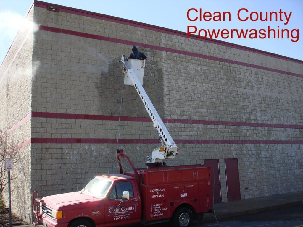 Exterior Building Cleaning A sparkling building exterior says a lot about your business. In addition to curb appeal, it reflects the stability, success and professionalism of your business. Clean County is here to bring a facelift to your building exterior – and to make it count. What Does Your Building Say About Your Business? We have clients that span virtually every industry. But whether you're in healthcare or hospitality, food service or retail, one common thread stands out: You care about the success of your business. No matter how exceptional your service is, and no matter how much you care about your customers, everything can get lost behind bad curb appeal. Too many businesses lose prospective clients – and can't hold onto existing ones – because their property doesn't reflect that top notch business that they run. Property maintenance is an uphill battle, too. In the Tri State area, buildings are impacted by the four-season climate. Algae, mold, mildew, and other issues don't just hurt your property's quality… They hurt your business. Clean County offers a straightforward solution that provides a long-term return. Our building washing solution is designed to help your exterior project its best condition and hold onto its exceptional quality well into the future.