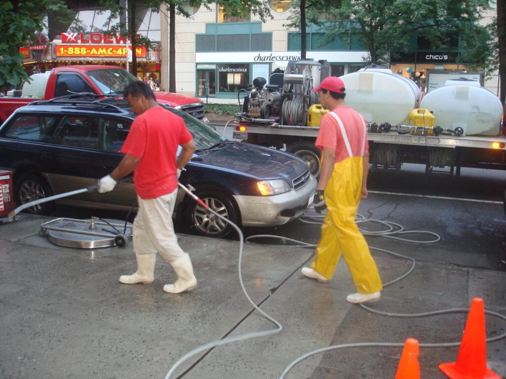 high traffic power washing new york