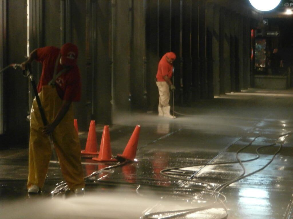 new york power washing concrete
