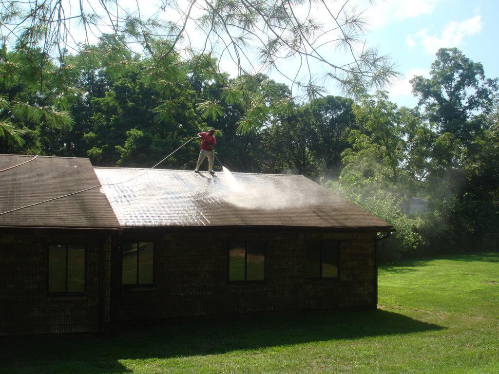 roof power washing new york before