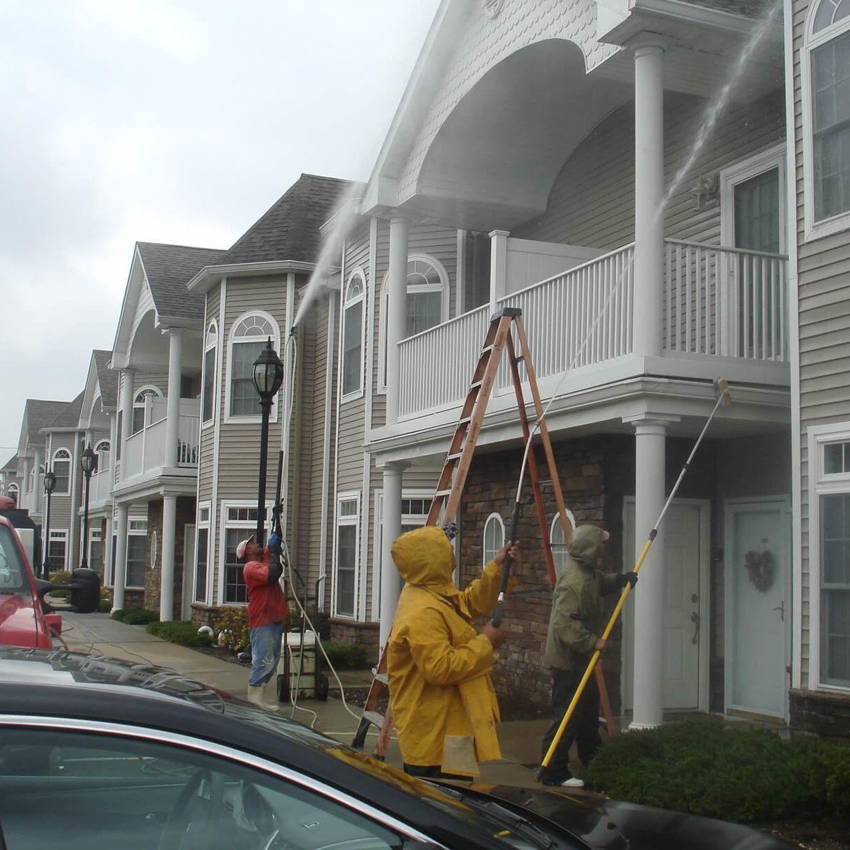 Your property deserves an exterior cleaning ally - and we're here to fill those shoes! Clean County proudly serves HOAs, condos, and multi-unit properties in the area with comprehensive exterior cleaning solutions. Complete Exterior Cleaning Services Managing a property is a big job - and we're here to make it that much easier. With our one-stop-shop solutions, you can count on the best quality in: townhouse power washing new york Building Washing We have capability for power washing and soft washing, which allows us to bring the best clean to any exterior surface. We remove stains, buildup, and mold and mildew from virtually every material, including: Vinyl Brick Stucco Wood Cedar The Area's Top Provider Of Quality Parking Garage Cleaning & Maintenance Services. Parking Garages should be cleaned in the Northeast at least once a year, and in high traffic garages twice a year, due to the salts and other contaminants that get into the garage surfaces. They eventually get absorbed into the concrete parking surfaces and soon will cause the rebar to rot out. When this happens the concrete begins to leak,crack and in the worse case scenario the garage itself can be condemned. We use state of the art hot and cold water powerwashing machines ranging up to 4000 PSI with up to 200+ degree water, surface machines and any cleaning solutions needed for all parking garage cleaning. Our knowledgeable staff is experienced on how to lighten or when possible remove stains completely. Each Parking Garage cleaning is approached based upon the existing conditions, and we will use the correct products and methods specific to your facility's cleaning and maintenance requirements. Concrete Cleaning Our hot water power washing solution is the most effective way to give your property a facelift. We remove chewing gum, stains, dirt, and other imperfections from your: Parking Lot Sidewalk Patio Entryway Driveway house pressure washing new york Roof Cleaning A clean roof completes your property